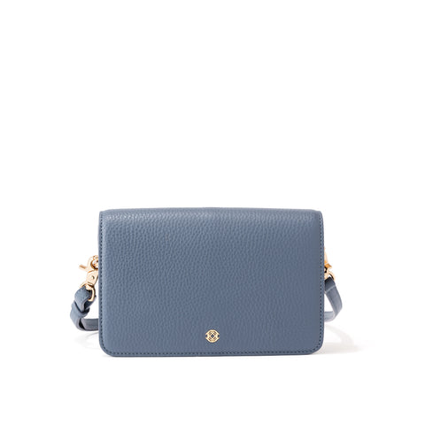 Andra Crossbody in Ash Blue, Small