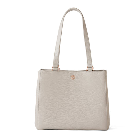 Allyn Tote in Bone, Small