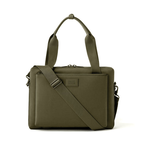 Ryan Laptop Bag in Dark Moss, Large