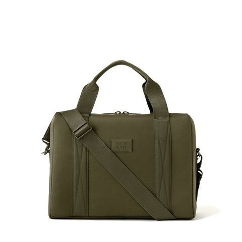 Weston Laptop Bag in Dark Moss, Large
