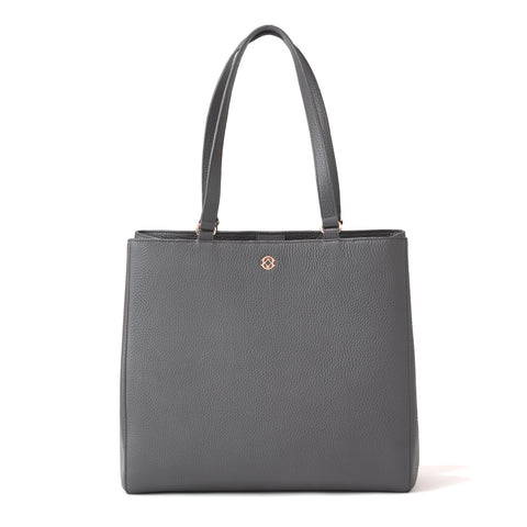 Allyn Tote in Graphite, Large