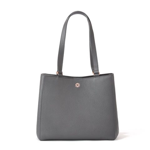 Allyn Tote in Graphite, Small