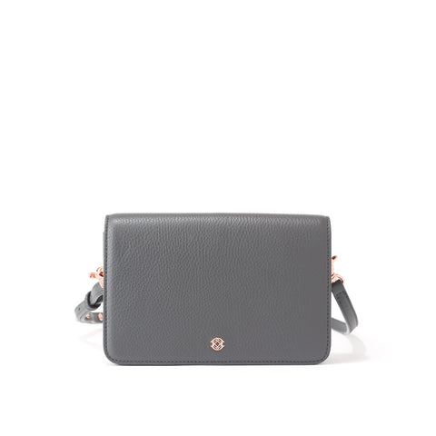 Andra Crossbody in Graphite, Small