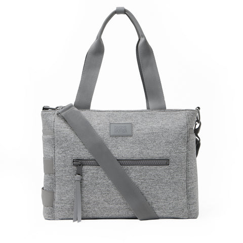 Wade Diaper Tote in Heather Grey, Large