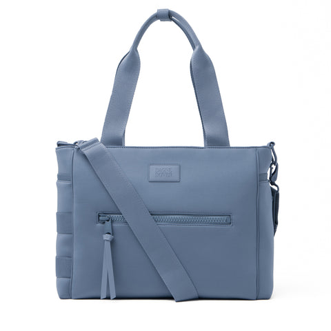 Wade Diaper Tote in Ash Blue, Large