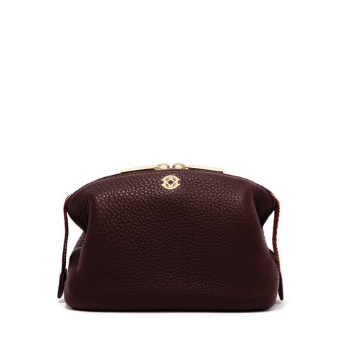 Lola Pouch in Oxblood, Small