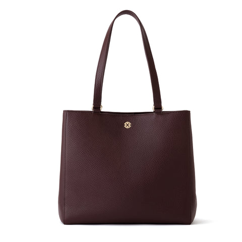 Allyn Tote in Oxblood, Medium
