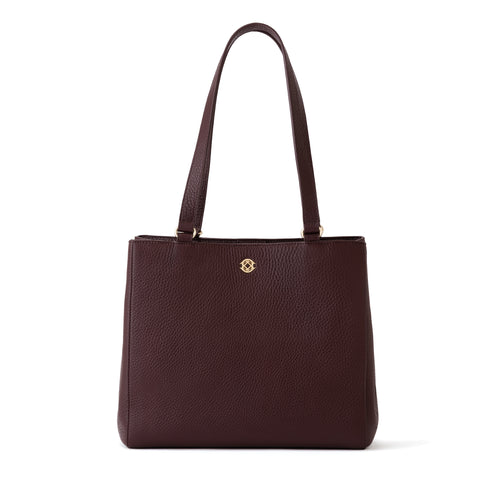 Allyn Tote in Oxblood, Small
