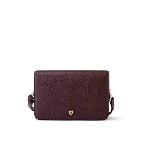 Andra Crossbody in Oxblood, Small