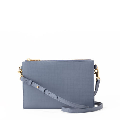 Essentials Clutch Wallet in Ash Blue