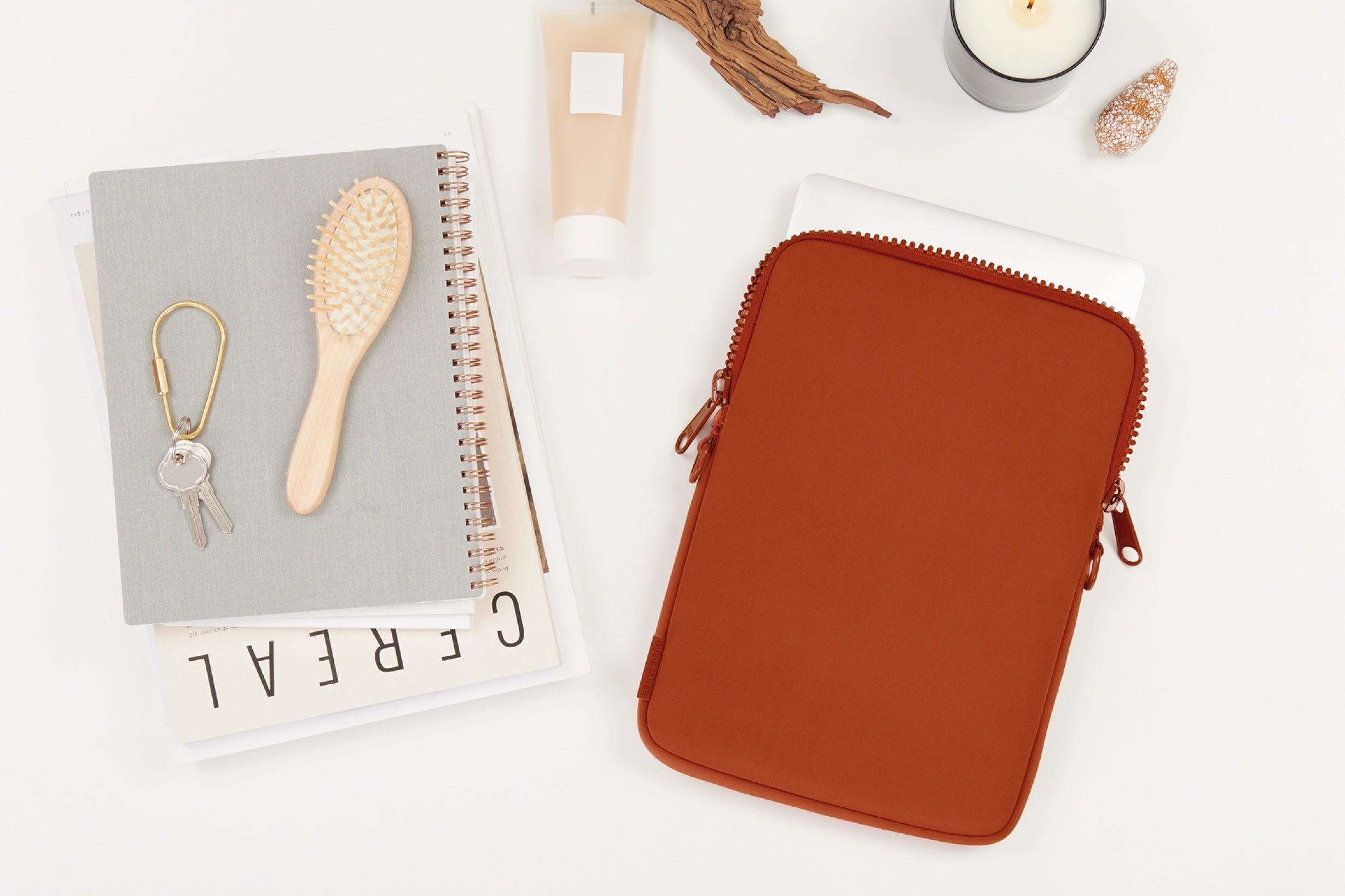 Clay Red Laptop Sleeve