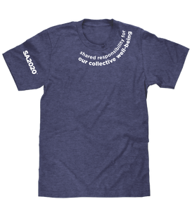 """shared responsibility for our collective well-being"" Zoom T-Shirt"