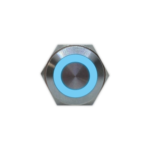 16mm Stainess Steel Button (Blue) - Commtel Shop