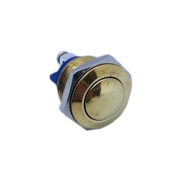 16mm Polished Brass Button - Commtel Shop