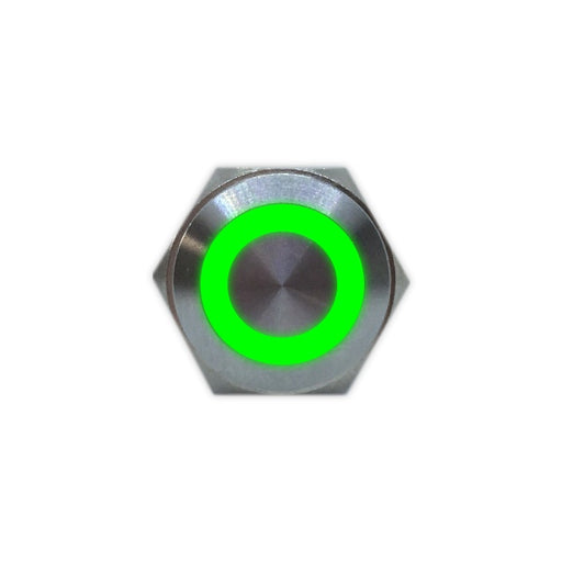 16mm Stainless Steel Button (Green) - Commtel Shop