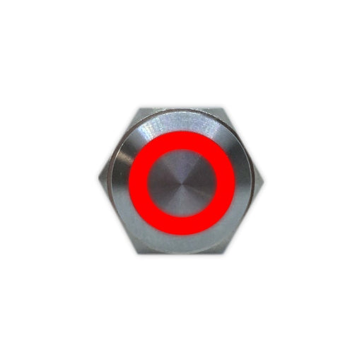 16mm Stainless Steel Button (Red) - Commtel Shop