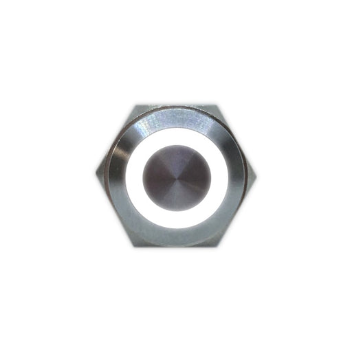 16mm Stainless Steel Button (White) - Commtel Shop