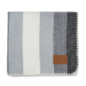 QISU Alpaca Wool Throw Blanket - Banded and Bold Blankets - QISU