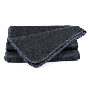 QISU Alpaca Wool Throw Blanket - Solid Styled Blankets - QISU