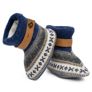 Qisu Polar Fleece Baby Booties for Boys and Girls - Blue Lake - QISU