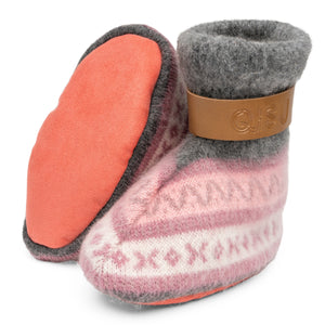 Qisu Polar Fleece Baby Booties for Girls - Pink Beauties - QISU