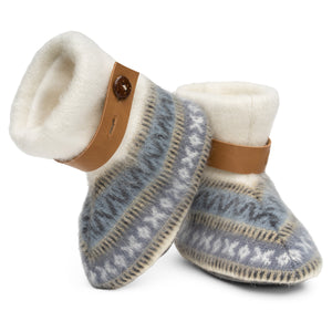Qisu Polar Fleece Baby Booties for Boys and Girls - Snow Mountains - QISU