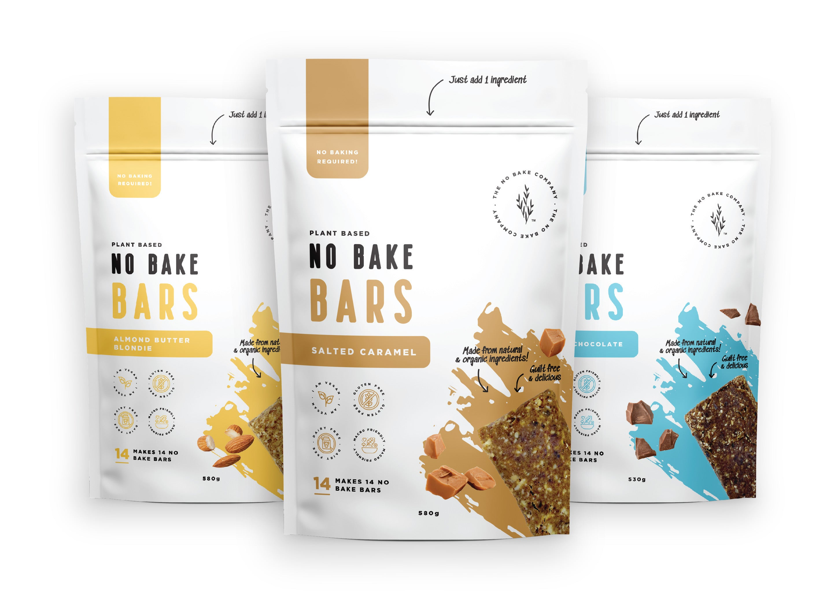 No Bake bar Mixture's | 3 flavour variety pack - The No Bake Company
