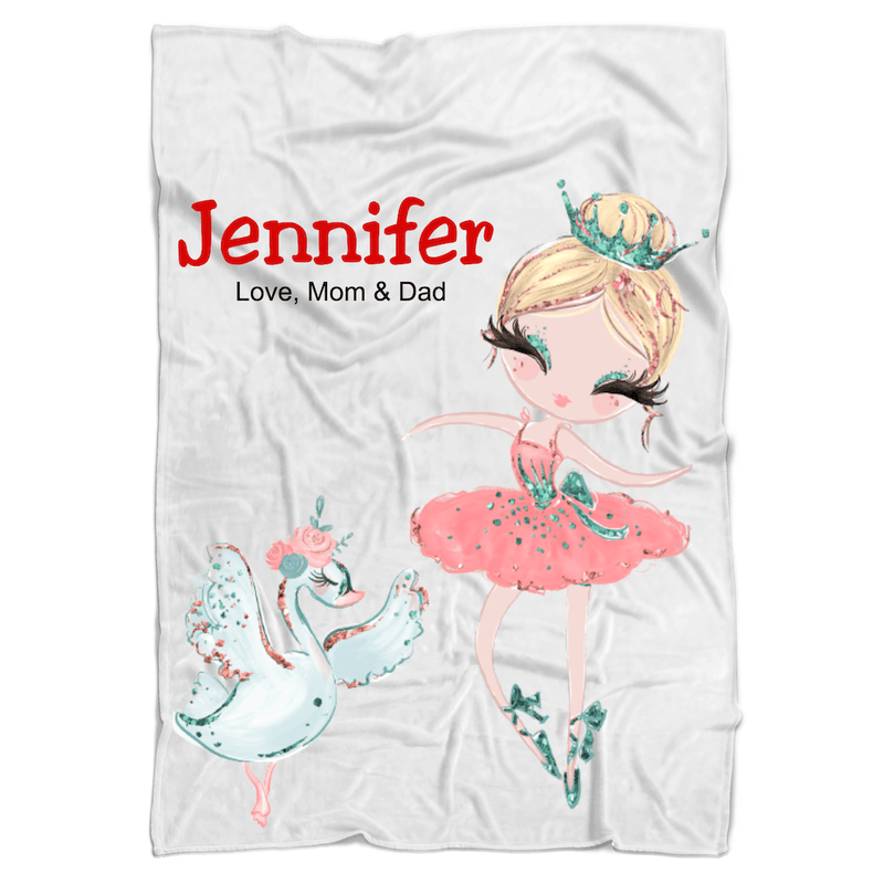Ballerina Personalized Minky Blanket (multiple versions) - BitsyBon
