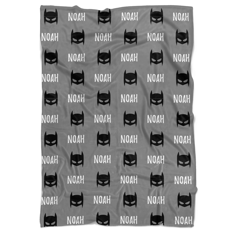 Bat Mask Personalized Minky Blanket - BitsyBon