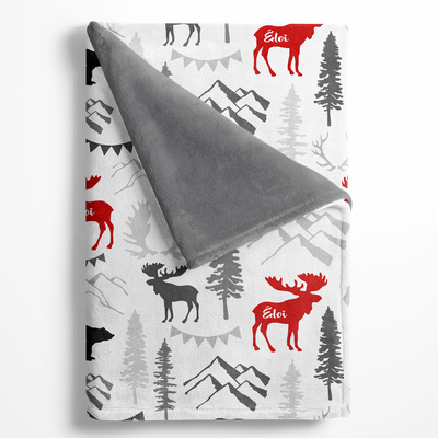 Boreal Personalized Minky Blanket - BitsyBon