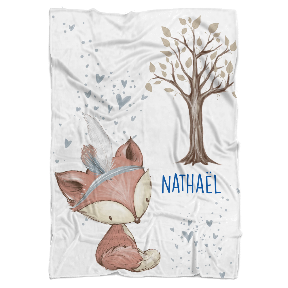 Blue Forest Fun Personalized Minky Blanket - BitsyBon