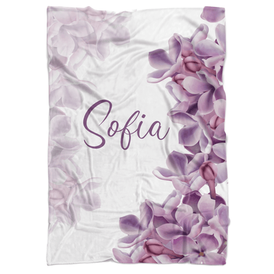 Floral Princess Personalized Minky Blanket - BitsyBon