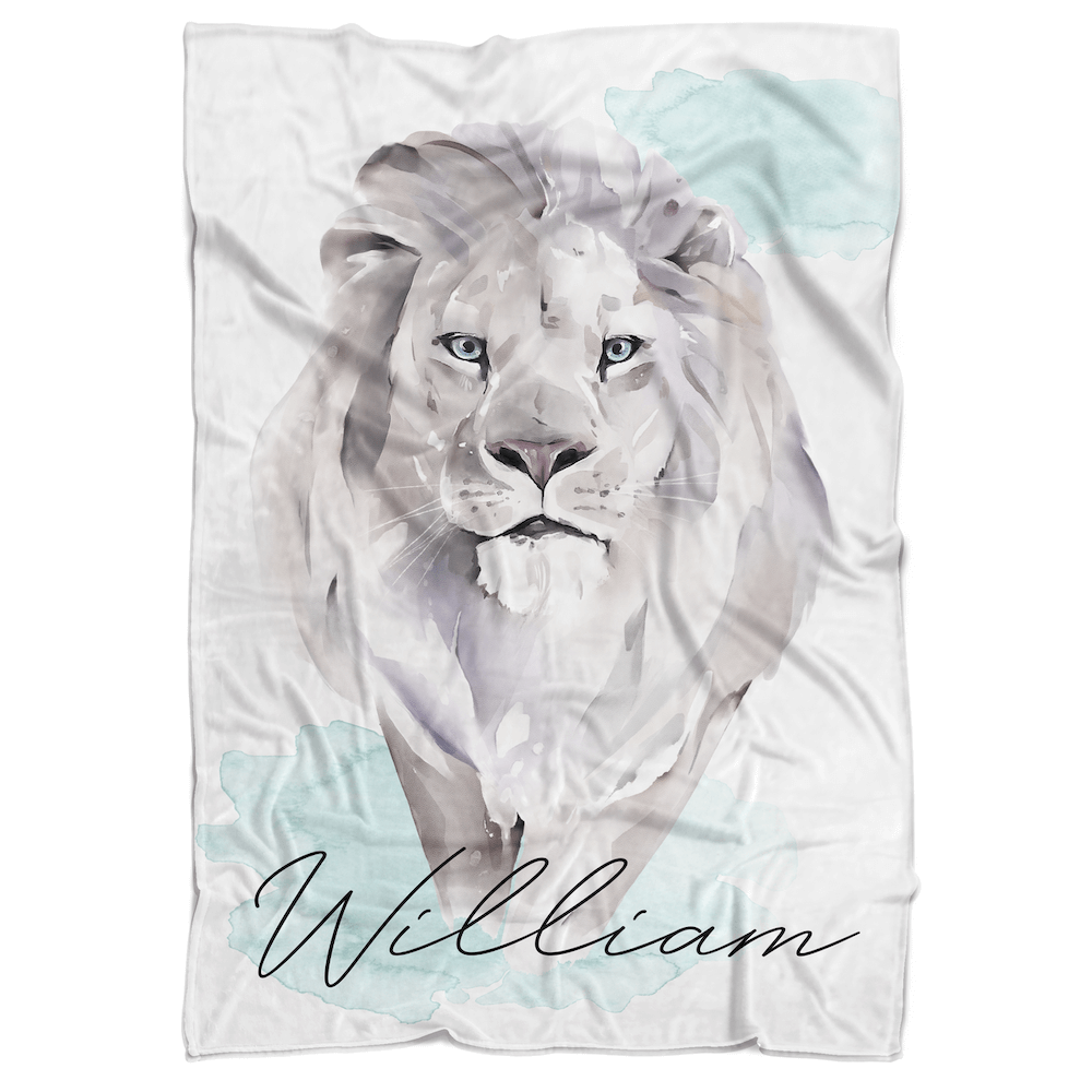 Lion Personalized Minky Blanket - BitsyBon