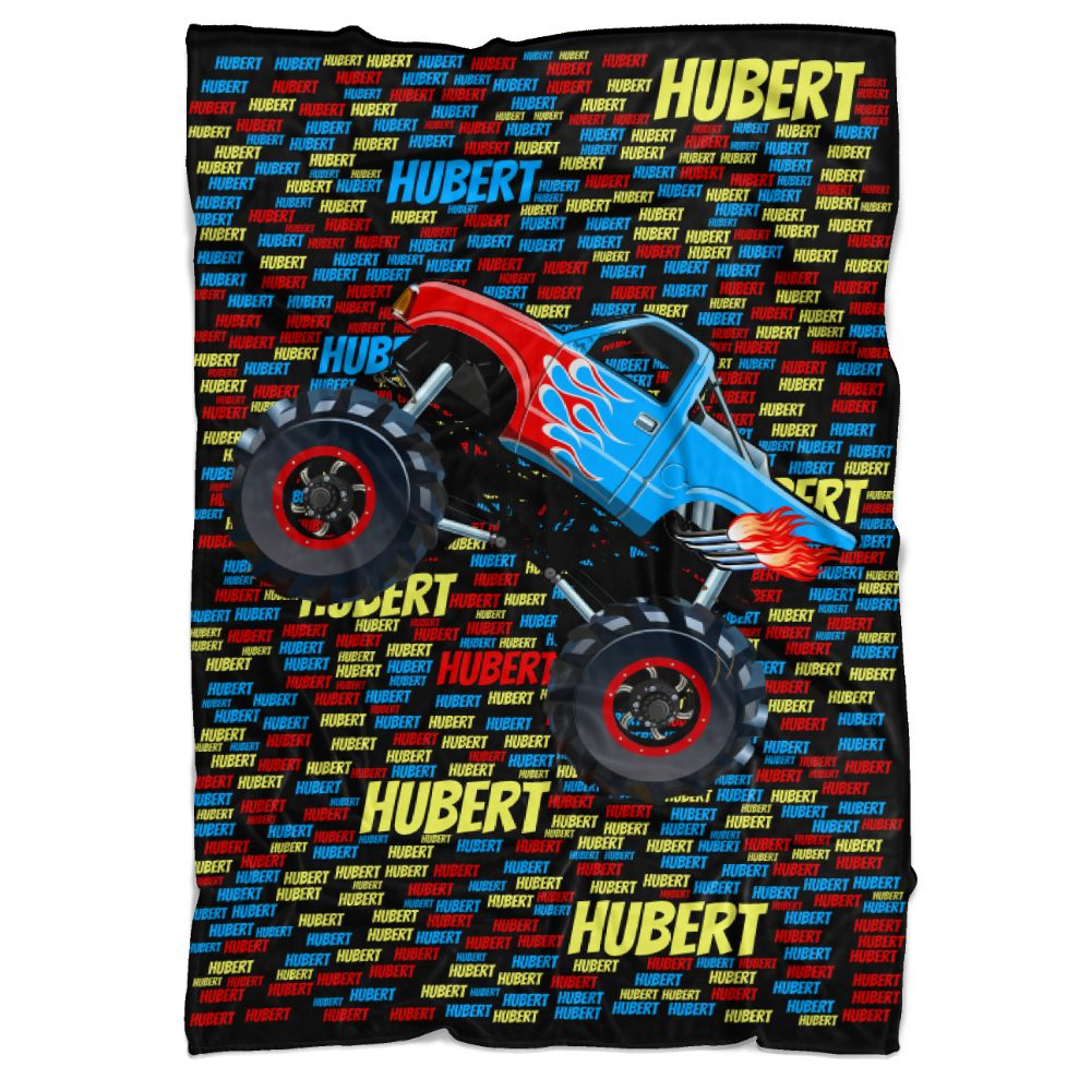 Monster Truck Personalized Minky Blanket - BitsyBon