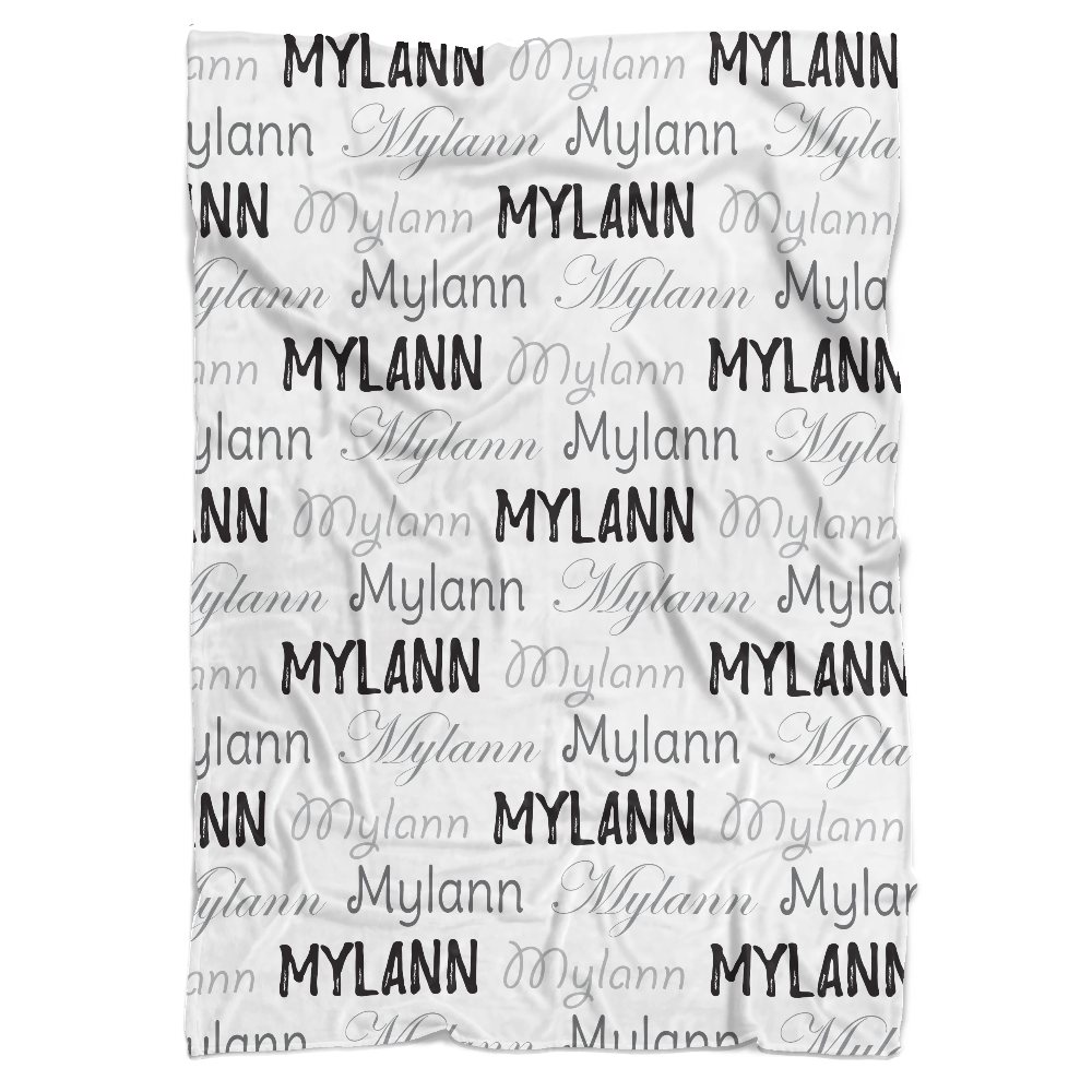 Name Personalized Minky Blanket - BitsyBon