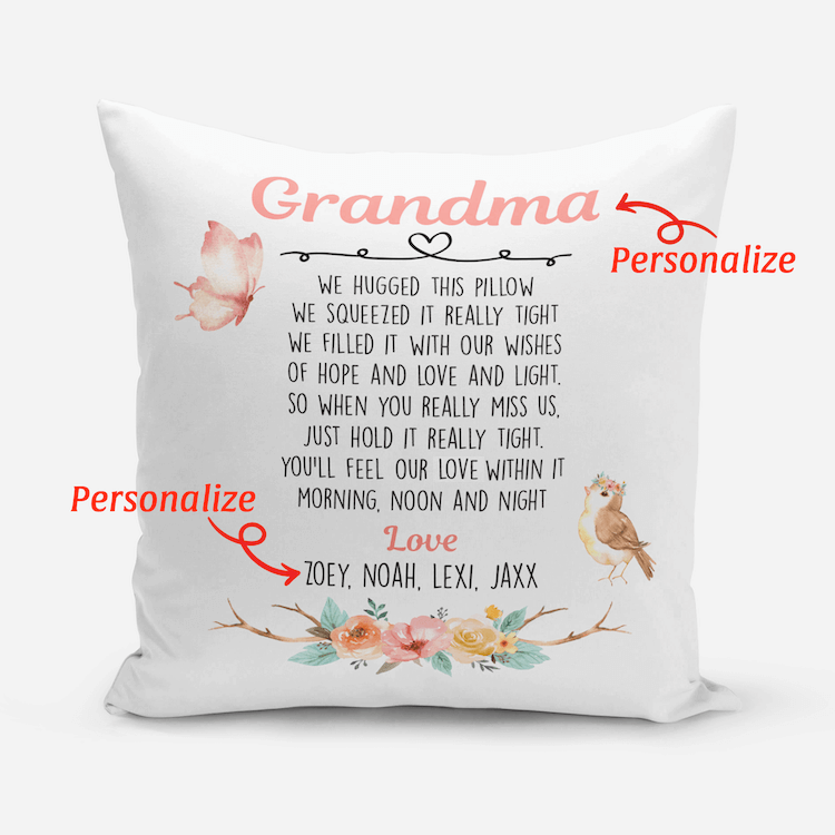 Personalized Pillow Case - Message 1 - BitsyBon