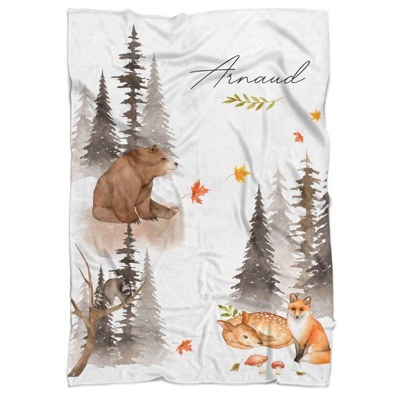 Wilderness Personalized Minky Blanket - BitsyBon