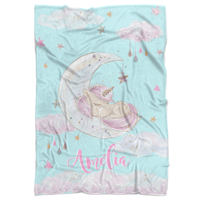 Fairytale Princess Personalized Minky Blanket - BitsyBon