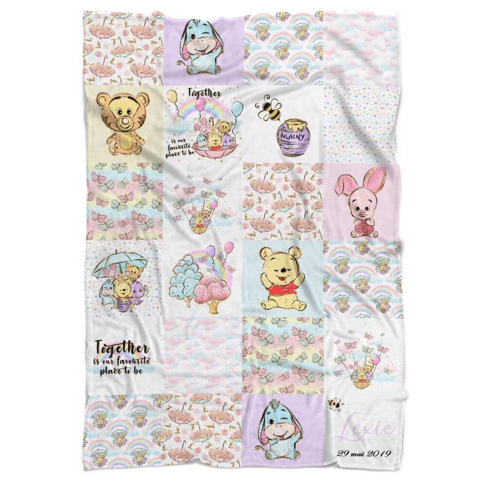 Bear and Friends Personalized Minky Blanket - BitsyBon