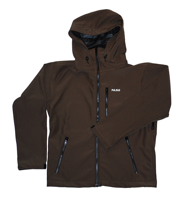 Fulsus Usa Mountain Jacket Cappuccino Brown Softshell Made In Colorado