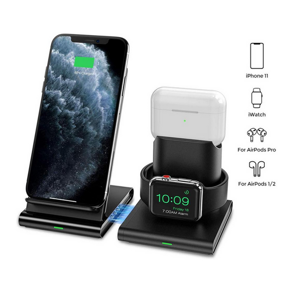3 in 1 Detachable and Magnetic Wireless Charging Station