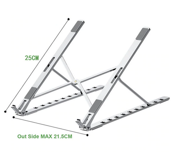 Adjustable foldable laptop stand 10 levels