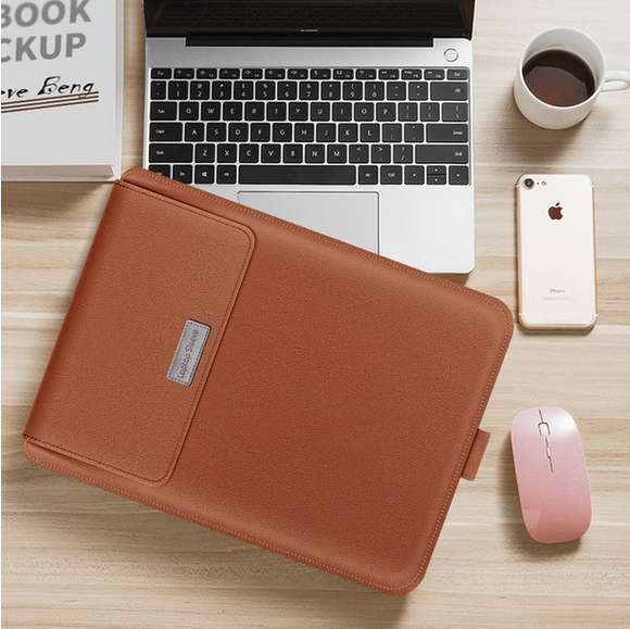 Laptop Bag PU Leather Sleeve Bag Case For Macbook Air Pro 13 15 Notebook Sleeve Bag For Macbook air 11 12 13.3 15.4 inch Case