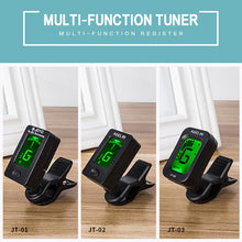 Load image into Gallery viewer, Digital Chromatic LCD Clip-On Electric Tuner For Bass Guitar Foldable Rotating Clip High Sensitivity Ukulele Guitar Accessories