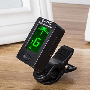 Digital Chromatic LCD Clip-On Electric Tuner For Bass Guitar Foldable Rotating Clip High Sensitivity Ukulele Guitar Accessories