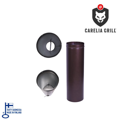 CARELIA GRILL® PIPE WITH CLOSABLE VALVE 1M