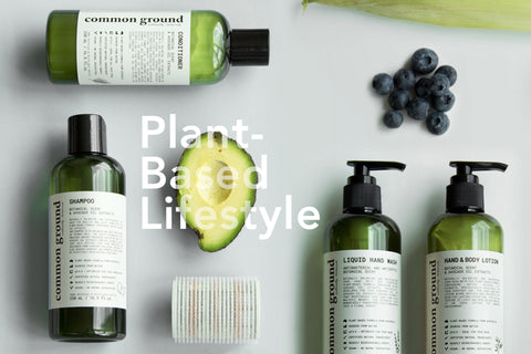 Plant-Based Lifestyle with Organic Shampoo and Conditioner