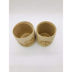Real Bamboo Wood Cups (Set Of 2) - EcoSlurps Store