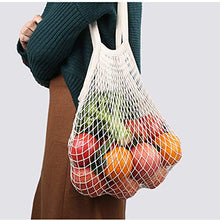 Load image into Gallery viewer, 9 Reusable Produce Bags With Drawstrings And Woven Organic Cotton Shopping Bag - EcoSlurps Store
