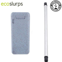Load image into Gallery viewer, Reusable Folding Straw In Wheat Straw Keychain Case - EcoSlurps Store
